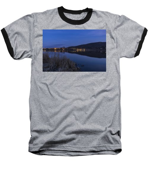 Blue Hour Retreat Meadows Baseball T-Shirt by Tom Singleton