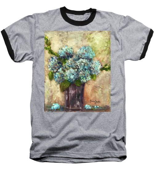 Blue Hydrangeas Baseball T-Shirt