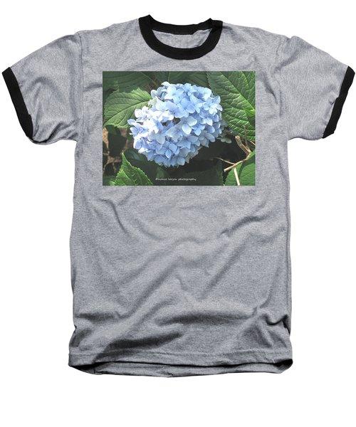 Blue Hydrangnea Baseball T-Shirt