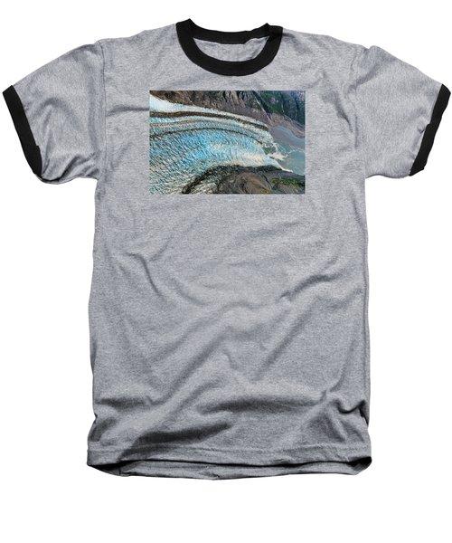 Blue Ice Glacier Alaska Baseball T-Shirt