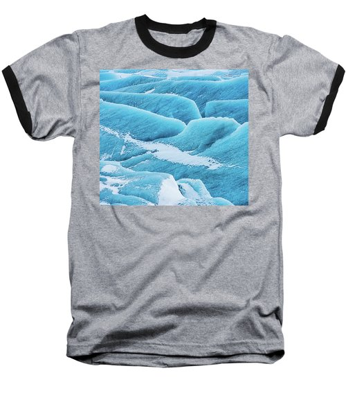 Baseball T-Shirt featuring the photograph Blue Ice Svinafellsjokull Glacier Iceland by Matthias Hauser