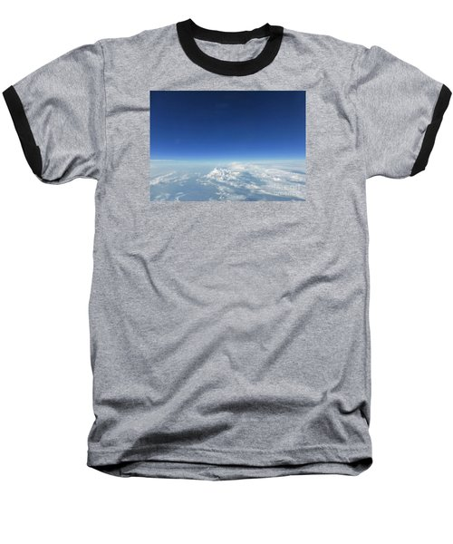 Blue In The Sky Baseball T-Shirt by AmaS Art