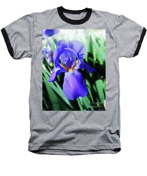 Blue Iris 2 Baseball T-Shirt