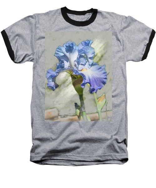 Blue Iris 2 Baseball T-Shirt