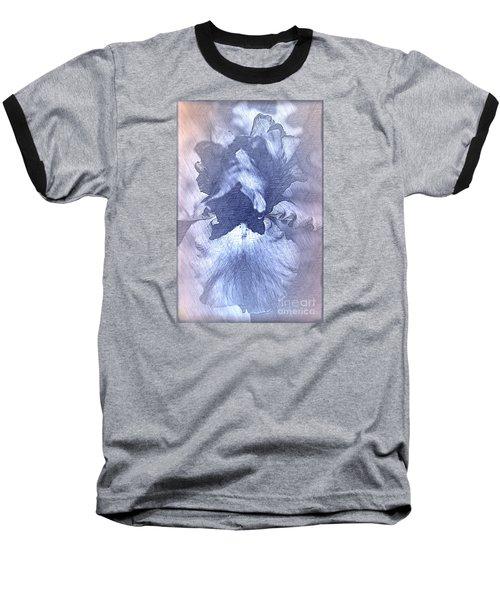 Blue Iris Abstract Baseball T-Shirt