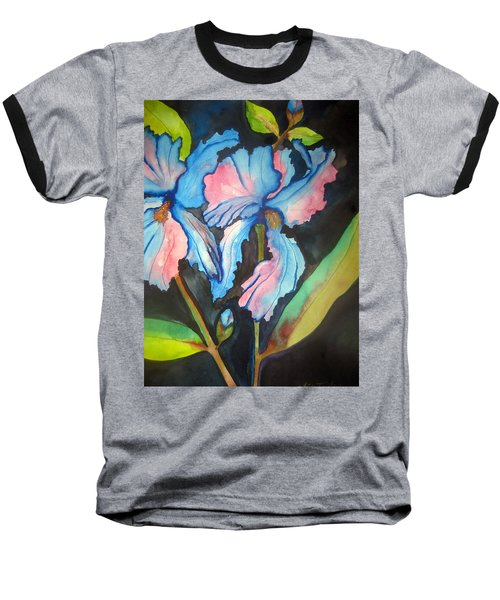 Blue Iris Baseball T-Shirt by Lil Taylor