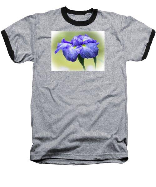 Blue Iris Baseball T-Shirt by Venetia Featherstone-Witty