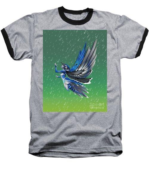 Blue Jay Fairy Baseball T-Shirt by Stanley Morrison