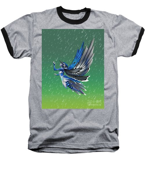 Blue Jay Fairy Baseball T-Shirt