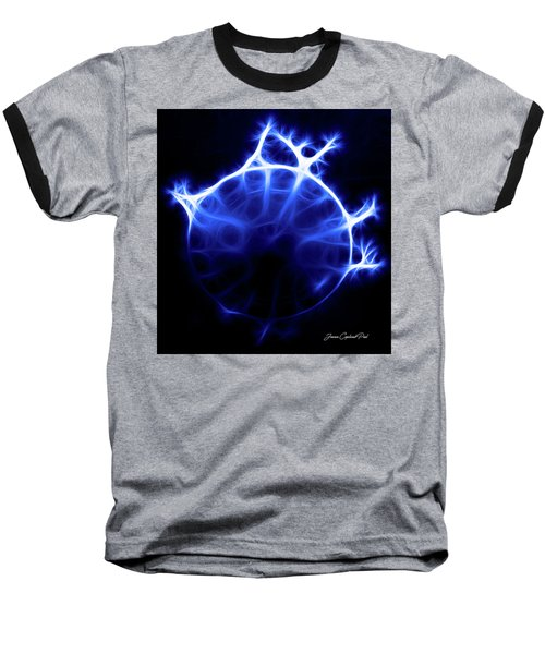 Blue Jelly Fish Baseball T-Shirt by Joann Copeland-Paul