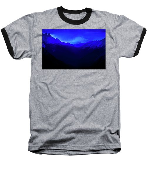 Baseball T-Shirt featuring the photograph Blue by John Poon