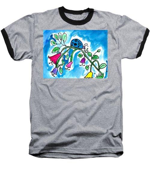 Blue Ladybug Baseball T-Shirt