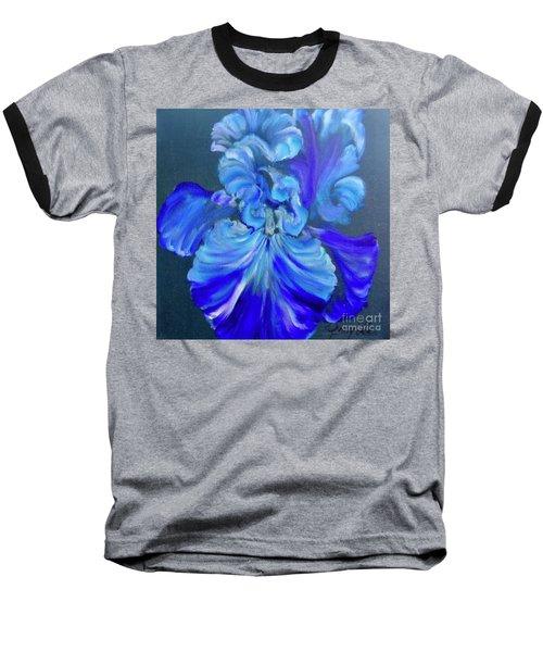 Blue/lavender Iris Baseball T-Shirt