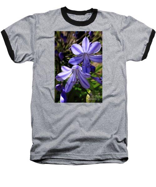 Blue Lily Baseball T-Shirt