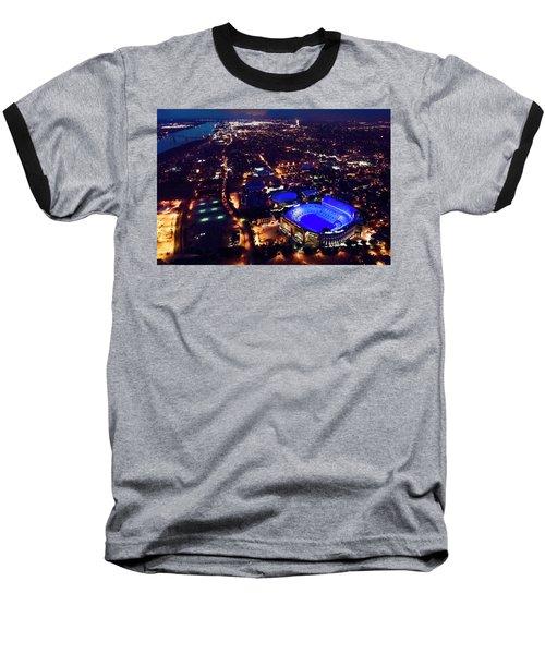 Blue Lsu Tiger Stadium Baseball T-Shirt