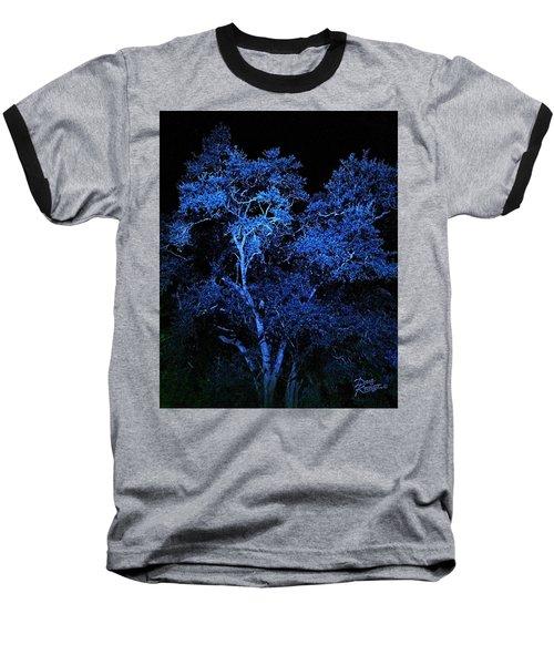 Baseball T-Shirt featuring the digital art Blue Magic by Doug Kreuger