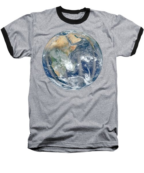 Blue Marble 2012 - Eastern Hemisphere Of Earth Baseball T-Shirt