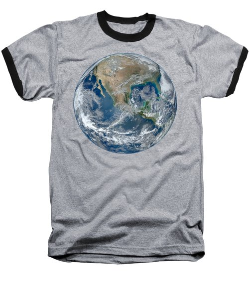Blue Marble 2012 Planet Earth Baseball T-Shirt by Nikki Marie Smith