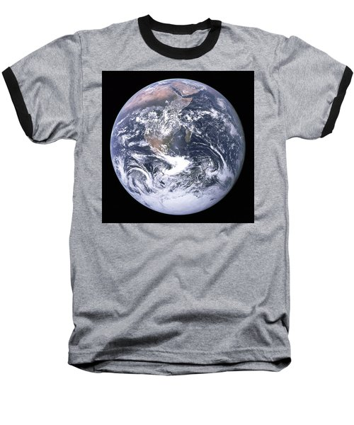 Blue Marble - Image Of The Earth From Apollo 17 Baseball T-Shirt