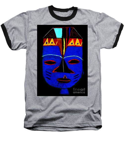 Blue Mask Baseball T-Shirt