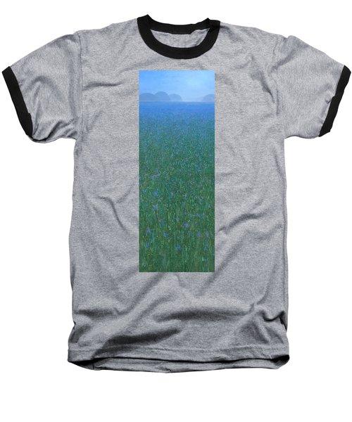 Blue Meadow 2 Baseball T-Shirt by Steve Mitchell