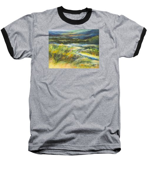Blue Meadows Baseball T-Shirt by Glory Wood