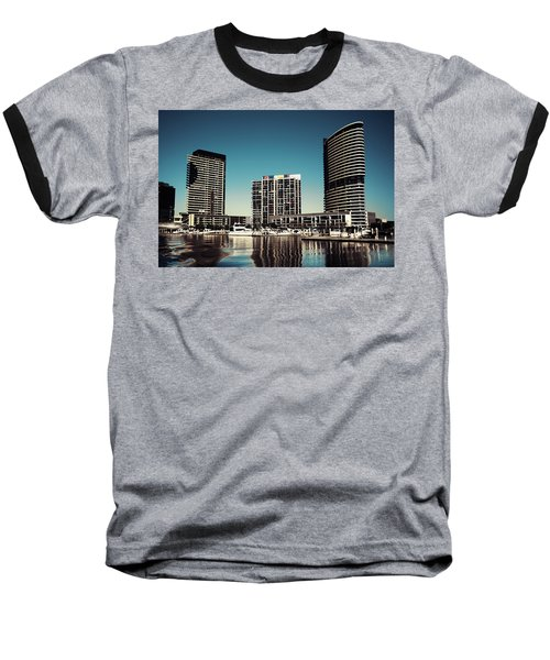 Blue Melbourne Baseball T-Shirt
