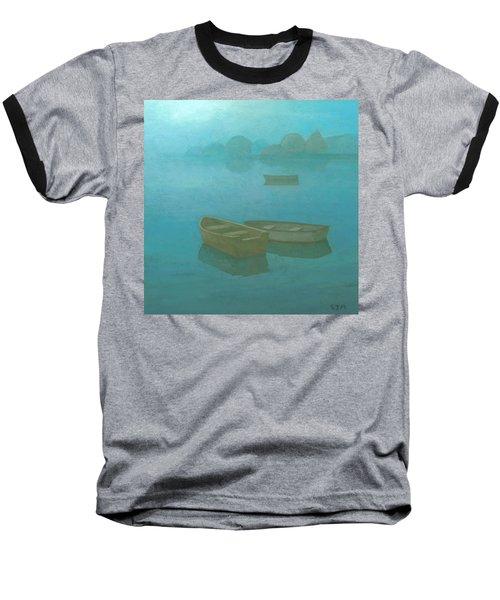 Blue Mist Baseball T-Shirt by Steve Mitchell