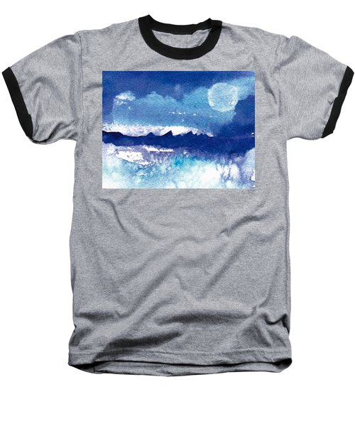 Blue Mohave Moon Baseball T-Shirt