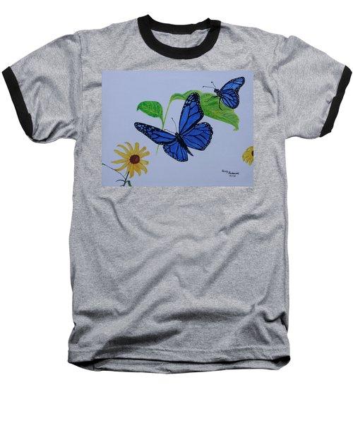 Blue Monarch Baseball T-Shirt