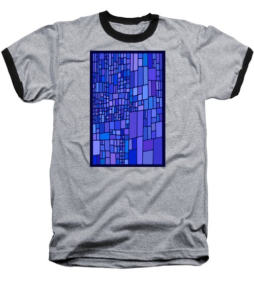 Blue Mondrian Baseball T-Shirt