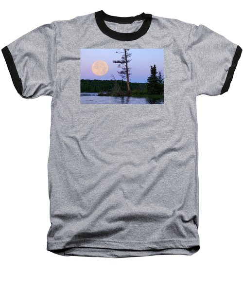 Baseball T-Shirt featuring the photograph Blue Moon At Sunrise by Steven Clipperton