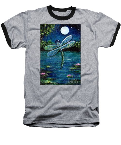 Blue Moon Dragonfly Baseball T-Shirt