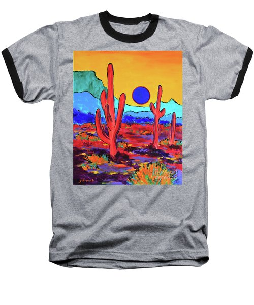 Blue Moon Baseball T-Shirt by Jeanette French