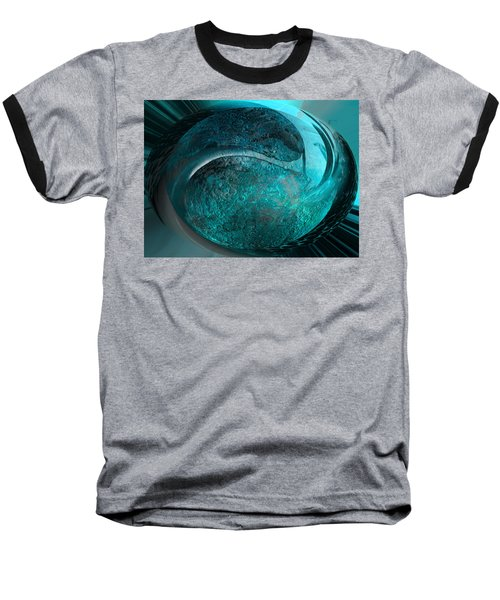 Baseball T-Shirt featuring the digital art Blue Moon by Kevin Caudill