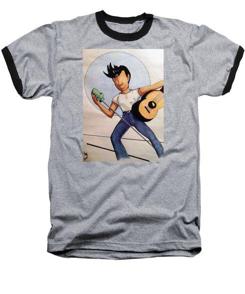Blue Moon Baseball T-Shirt by Loretta Nash
