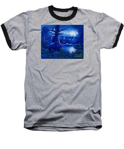 Blue Moon Baseball T-Shirt by Michael Frank