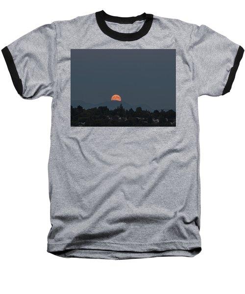Blue Moon.1 Baseball T-Shirt by E Faithe Lester