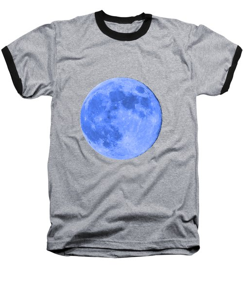 Blue Moon .png Baseball T-Shirt by Al Powell Photography USA