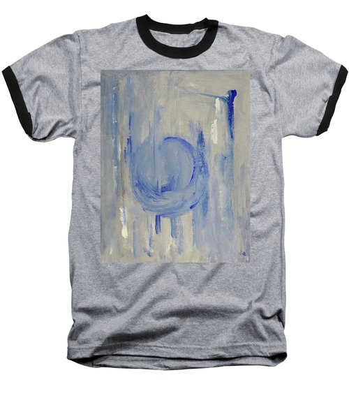 Baseball T-Shirt featuring the painting Blue Moon by Victoria Lakes