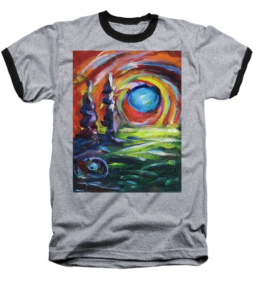 Baseball T-Shirt featuring the painting Blue Moon by Yulia Kazansky