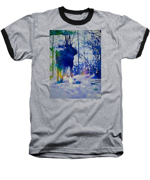 Blue Moose Baseball T-Shirt by Jan Amiss Photography
