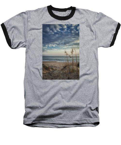 Blue Morning Baseball T-Shirt by David Cote