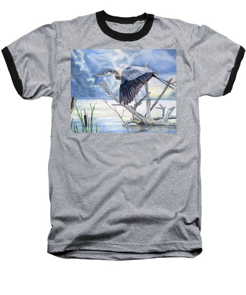 Blue Morning Flight Baseball T-Shirt