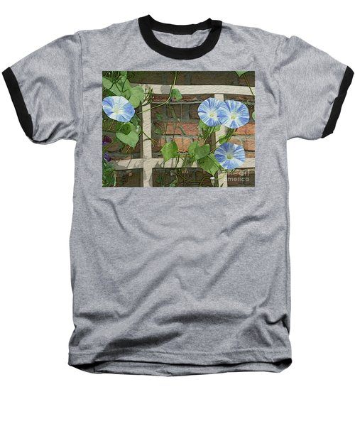 Blue Morning Glories Baseball T-Shirt