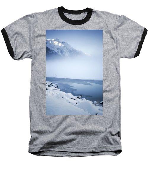 Blue Mountain Fog Baseball T-Shirt