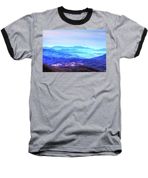 Blue Mountain Mist Baseball T-Shirt by Dale R Carlson