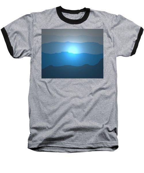 Blue Mountain Sun Baseball T-Shirt