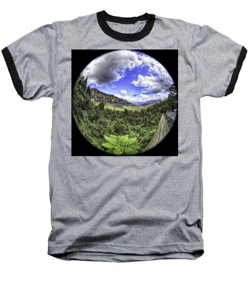 Blue Mountains Fisheye Baseball T-Shirt