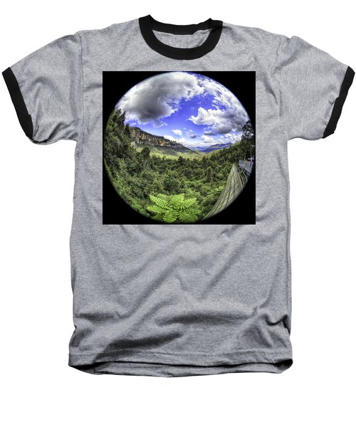 Blue Mountains Fisheye Baseball T-Shirt